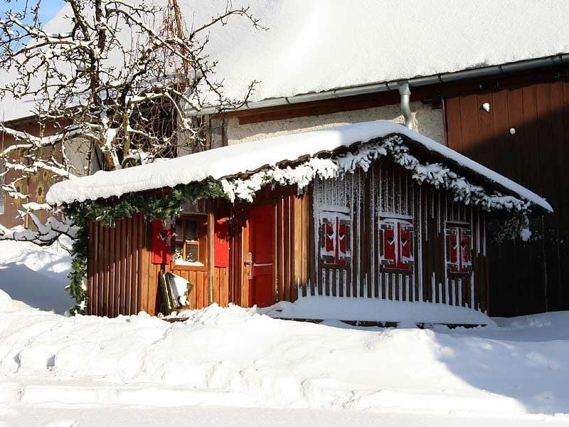 Kirschblütenhof - Gartenhaus im Winter