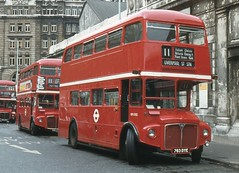 London Transport . RM1783 783DYE . Liverpool Street , London . Saturday 29th-August-1980 . (AndrewHA's) Tags: bus london station routemaster liverpoolstreet broadstreet parkroyal londonbus londontransport aec route11 783dye rm1783