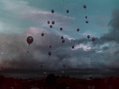 My beautiful picture (Thomas Hole) Tags: life pink sky film beautiful sarah 35mm balloons real death flickr mju 26 grain dramatic floating olympus scan 200 memory analogue kindness wilkinson intotheair sooc intospace thomashole