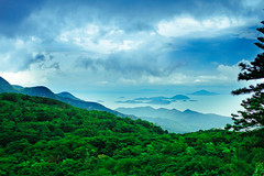 Heaven on Earth (|| Msh3L Alomran ||) Tags: blue trees sea mountain green statue bronze clouds canon island big hong kong 7d buddah