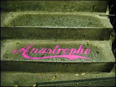 Anastrophe (sulamith.sallmann) Tags: pink signs berlin stairs deutschland typography steps rosa treppe typo schrift deu wort stufen stufe zeichen typografie treppenstufen berlinkreuzberg sulamithsallmann fragewort