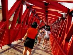 Red Bridge (Serlunar (tks for 6.5 million views)) Tags: bridge red flickrduel