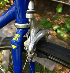 Hillman fork panto (ah_blake) Tags: road blue bike bicycle 531 frame singlespeed fixed fixie velocity hillman aerohead pantographed