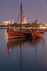 Doha City (Helminadia Ranford) Tags: city landscape boat arabic arab arabia gcc doha qatar alfanar