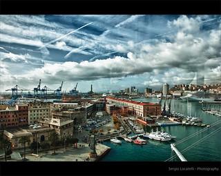 Genova - Veduta del porto antico