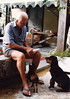 Ron at home with the dogs. (Ronnie Biggs The Album) Tags: ronnie biggs greattrainrobbery oddmanout ronniebiggs ronaldbiggs