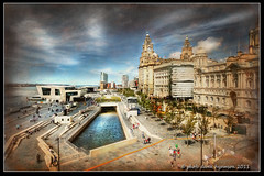 POST CARD FROM  LIVERPOOL (Derek Hyamson) Tags: window liverpool waterfront hdr pierhead 3graces museumofliverpool
