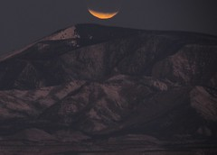 Partial Lunar Eclipse: South of Espanola, New Mexico (NM) (Floyd Muad'Dib) Tags: new usa moon mountain mountains newmexico america geotagged mexico eclipse us unitedstates united states nm floyd muaddib lunar lunareclipse floydmuaddib