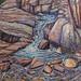 Bog Falls - Autumn, oil on canvas. Artist: Nancy Brossard
