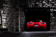 The Napping Italian (Stephan Bauer) Tags: red house italia garage ferrari exotic bauer mansion stephan coupe supercar 458 alienbees