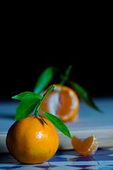 Clementines setup (le cabri) Tags: stilllife food orange green kitchen leaves fruit leaf morocco citrus clementines strobe strobist cactustrigger