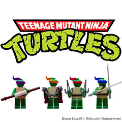 TMNT (Cartoon Version) (bruceywan) Tags: lego ninja mini staff turtles figure bo mutant leonardo minifig katana raphael sai michaelangelo donatello tmnt teenage nunchaku