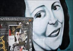 Lookin' at you ( CHRISTIAN ) Tags: streetart eye art face look 35mm graffiti nikon montral plateau oeil yeux visage regard canadapost postescanada henrijulien mtlguessed d80 gwim