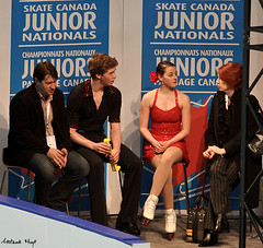 Nelles & Lettner in the Kiss & Cry (Melanie Heaney) Tags: sports action coaching figureskating icedance kissandcry carollane rebeccanelles nicholaslettner jurisrazgulajevs 2011canadians