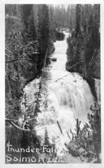 [IDAHO-B-0111] Salmon River - Thunder Falls (waterarchives) Tags: river salmon falls idaho salmonriver thunderfalls realphotopostcardrppc