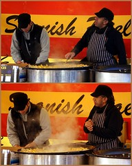 Spanish Paella (* RICHARD M (Over 6 million views)) Tags: street food cooking cuisine market candid steam spanish paella cooks southport pans cookery spaniards streetvendors sefton