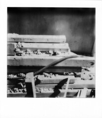 Destruction N 2 (artwpn) Tags: philadelphia polaroid sx70 blackwhite instant landcamera instantphotography basements oldshit px100 impossibleproject theimpossibleproject