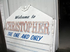IL - City of Christopher Sign (Inventorchris) Tags: grandma sign by mom town illinois or small christopher taken il local theoneandonly