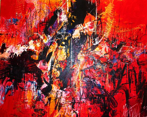 Red Zone - Painting - Abstract