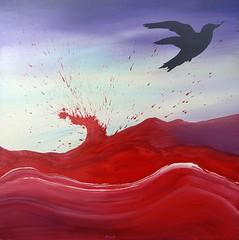 La esencia de los nidos. (Felipe Smides) Tags: bird luz painting de la los muerte vida ave nido sangre pintura pinturas pjaro esencia vuelo oscuridad vuelos procesos nidos smides felipesmides voltiles