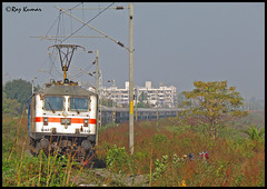 Andhra Pradesh express (Raj Kumar (The Rail Enthusiast)) Tags: new canon delhi indian bangalore loco express karnataka andhra railways raj abb pradesh bhopal kumar rajdhani wap7 30259 misrod sx30is