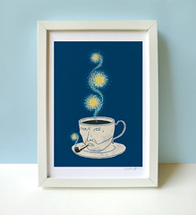 Starry starry coffee - print (ILoveDoodle) Tags: art coffee illustration print star design drawing humor vangogh starrystarrynight limhengswee ilovedoodle