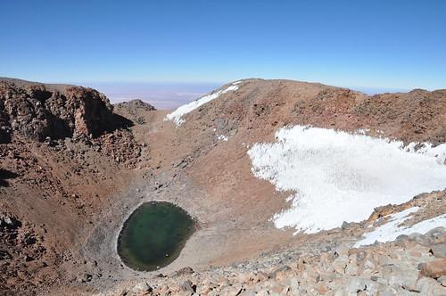 Crater lake at the summit of Licancabur