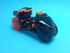 Rinzler's Light Cycle (Kingmarshy) Tags: light lego walker cycle tron legacy moc kingmarshy