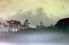 building new deities (Douglas E Pope) Tags: sky film cambodia grain noise buddah kampot kolor revolog