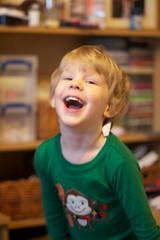 3 January 2012 (HaloHoney) Tags: laughing monkey pjs ikey boychild hpad