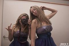 day ccxxxvi- shitty, shitty (365daysofsarav) Tags: mirror friend dress late 365 365days