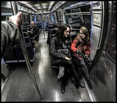METRO (Stephane BETIN) Tags: people paris france subway metro cartoon fisheye 8mm hdr samyang pentaxk10d pentaxart stephanebetin