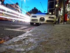 First try (BenGPhotos) Tags: white london car sport cream grand lighttrails bugatti supercar spotting 2012 w16 veyron hypercar