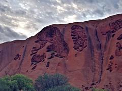 Uluru Face II (wawrus) Tags: world morning red heritage rock clouds site sandstone desert nt walk centre australia center unesco formation sacred uluru aboriginal northern ayers monolith base territory inselberg