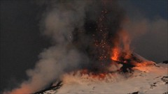 Fire and snow - Etna on the morning of 5 January 2012 (etnaboris) Tags: