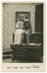 Try This on Your Piano (Alan Mays) Tags: old music men musicians vintage women kissing funny humorous photos antique humor couples kisses romance ephemera photographs postcards wallpapers pianos benches wordplay 1900s puns musicalinstruments rppc bamforth realphotopostcards bamforthco postcardpublishers