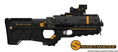 "SPW -Cyber- ""Metal Storm"" Assault SMG (Xan - Hates new theme) Tags: storm metal assault precision smg weapons cyber sweetwater spw"