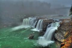 Foggy Day at Little River Falls (the waterfallhunter) Tags: fog cherokeecounty fortpaynealabama littleriverfalls alabamawaterfalls blanchealabama littlerivernationalpreservelittleriverlookoutmountiandekalbcounty
