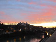 verso sera (terevinci) Tags: light sunset sky italy roma river tramonto fiume cielo lungotevere luci