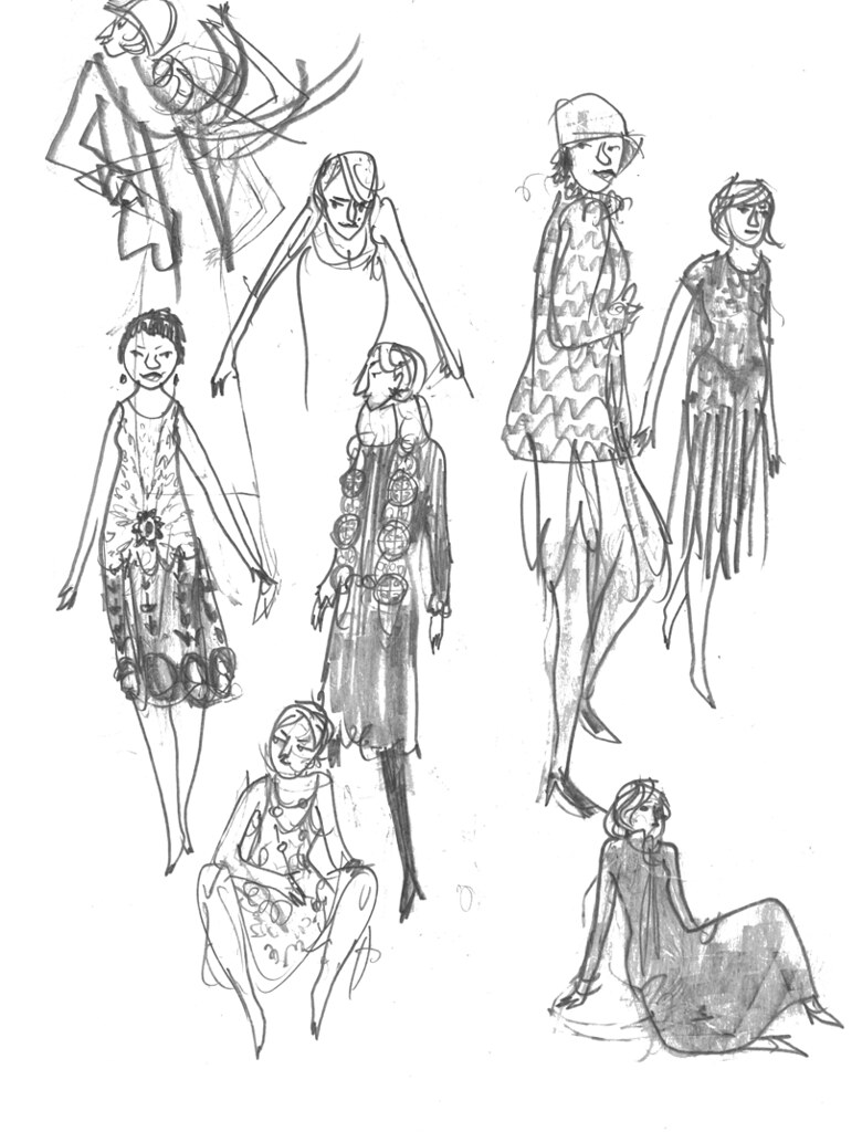 the world s best photos of 1920s and pencil flickr hive mind Vintage Cat Pictures From 1920s sketchbook fashion1920s 001 addtadd tags 1920s fashion pencil women drawing sketchbook