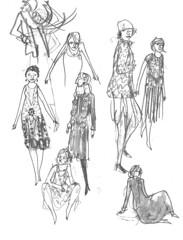 Sketchbook-Fashion1920s-001 (addtadd) Tags: 1920s fashion pencil women drawing sketchbook warmup