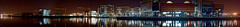 Titanic Quarter Panorama (lux venit) Tags: longexposure urban night docks reflections river riverside belfast panoramic cranes arena quarter gentrification odyssey titanic renewal wolff regeneration redevelopment lagan harland titanicmuseum drawingoffices belfastmet arcapartments harlandwolffpainthall