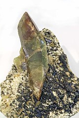 Titanite with Epidote (Ron Wolf) Tags: brazil minasgerais nature vertical crystal mineral geology earthscience epidote mineralogy titanite monoclinic