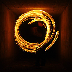 Balls of fire (.Nick Keller.) Tags: longexposure water night ball fire tripod drain burn poi fuel biloela monkeyfist