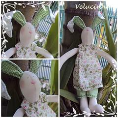 Coelhinha... (Velucinha arte em pano) Tags: verde vermelho pscoa rabbits coelhos pascoa coelhinha coelhinhos coelhocoraodepscoacoelha