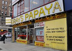 (Laser Burners) Tags: nyc newyorkcity fruit manhattan broadway upperwestside hotdogs streetfood frankfurters grayspapaya 72ndstreet daiquiris citynoise bway realnewyorker
