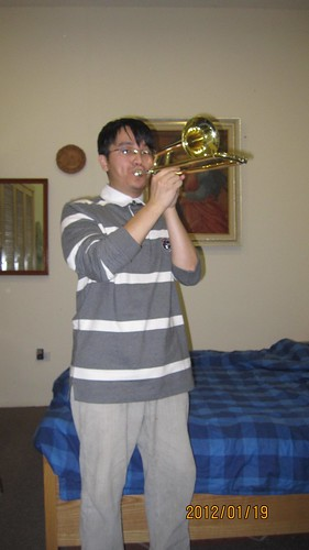 Me playing the soprano trombone