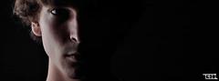Self Portrait (Teo Morabito) Tags: lighting new portrait black face self dark idea cool awesome great creative cover half timeline pict facebook mygearandme photosteomorabitocom wwwphotosteomorabitocom wwwteomorabitocom teomorabito