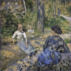 "Pissarro's ""Peasants Resting"" (1881) (Greatest Paka Photography) Tags: sanfrancisco art painting artist impressionist legionofhonor pissarro camillepissarro frenchimpressionism pissarrospeople peasantsresting"