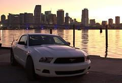 Sunset@Miami,FL 2012 (Jet A-1 Photography) Tags: sunset ford skyline island harbor florida miami jet watson a1 mustang
